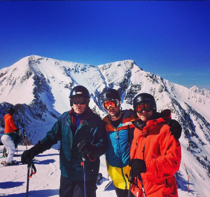 Skiing with my dad and family friend at Snowbird