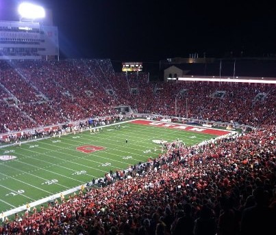A packed Rice Eccles stadium
